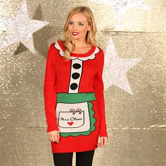 Mrs Claus- Knitted Santa Dress
