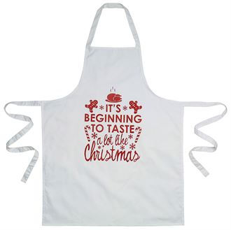 Christmas apron - It's beginning to taste